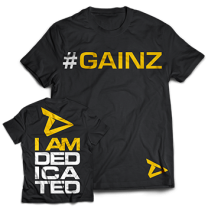 "Dedicated Nutrition ""#Gainz"" Tee"