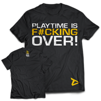 "Dedicated Nutrition ""Playtime Is Over"" Tee"