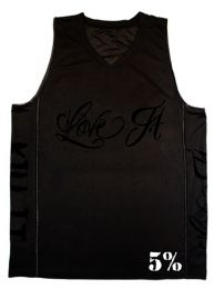 #23 Rich Piana Love It Kill It 5% - Basketball Jersey (Black/White)