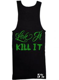 #9 Rich Piana Love It, Kill It 5% Tank Ribbed (Black/Green)