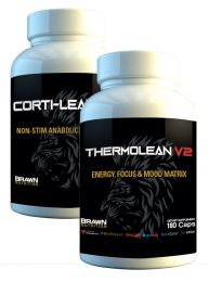 Brawn Nutrition Thermo-Lean v2 and Corti-Lean v2 Stack