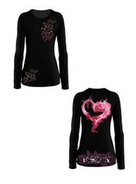 #41 Rich Piana Women's Passion Burn Out (Long Sleeve)