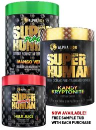 Alpha Lion Pre & Pump Stack - With Free Superhuman Sample Tub!!
